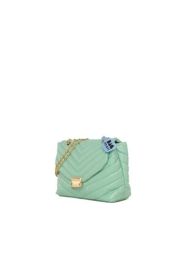 Bagmori  Kadın V Nakışlı Kilitli Mini Çanta M000006031 Yeşil